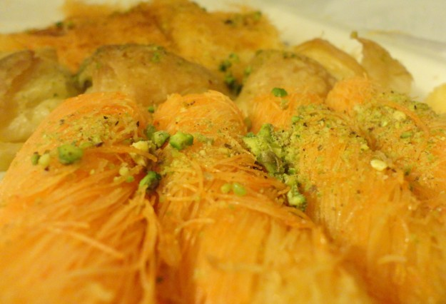 Up close with knafeh