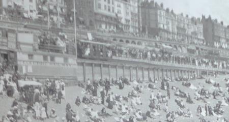 Old photo of Brighton with Volks railway