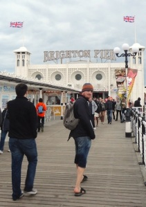 People on Brighton Pier