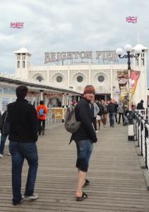 People on Brighton Pier