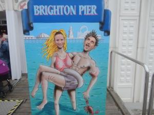 Brighton Pier cut outs