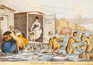 Engraving by William Heath - Mermaids at Brighton