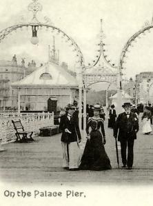 Old postcard of Palace Pier Brighton