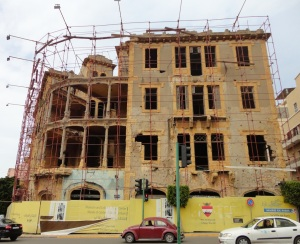 Building being repaired in Achrafieh