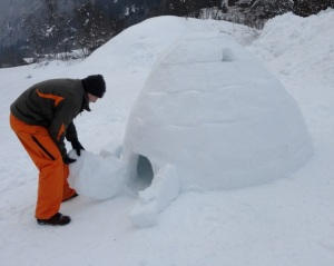 opening the igloo