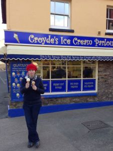 Some Cornish ice cream.. yum!