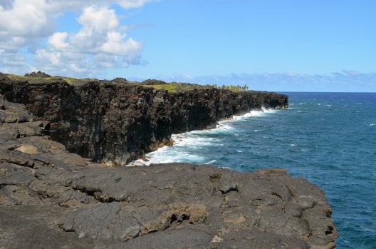 Hawaii lava cliffs