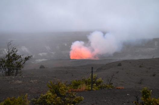 Volcano glow hawaii