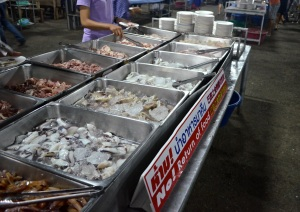 Raw seafood waiting to get grilled