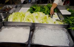 Getting stuck into the veggies
