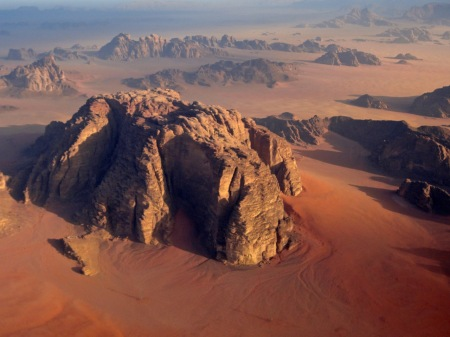 Wadi Rum from above